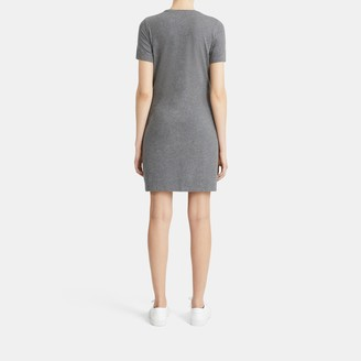 Theory T-Shirt Dress in Melange Stretch Cotton