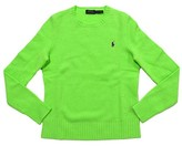Polo Ralph Lauren Women's Crew Neck Wool/Cashmere Sweater (M, Green)
