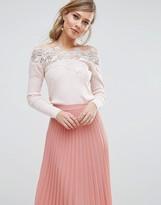 Coast Lileth Lace Bardot Knit Top