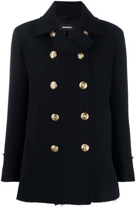 Diesel W-Nilaj double-breasted coat