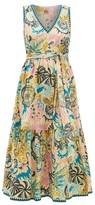 Le Sirenuse Le Sirenuse, Positano - Evelin Dr Psycho-print Cotton Shirt Dress - Womens - Yellow Multi