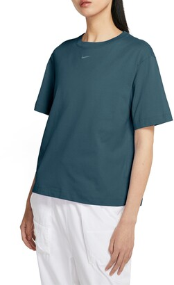 Nike Essential Embroidered Swoosh Organic Cotton T-Shirt