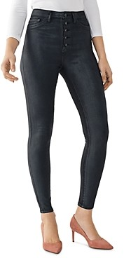 DL1961 Chrissy Ultra High Rise Skinny Ankle Jeans in Graphite