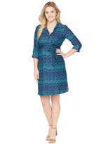 Motherhood Tie Detail Maternity Shirt Dress