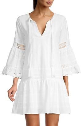 Allison New York Eyelet-Trim Crochet Tunic Dress