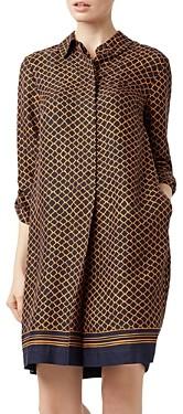 Hobbs London Marci Geometric-Print Shift Dress