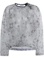 Roseanna floral print sheer top