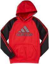 adidas Fleece Hoodie (Kid) - Mercury Grey/Black-Small