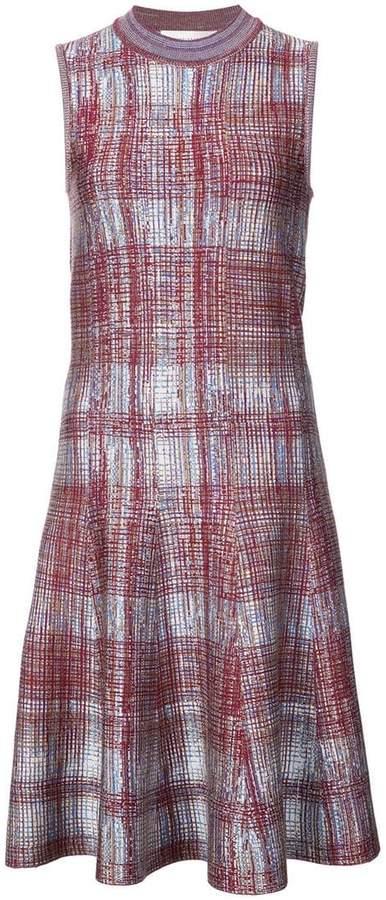 Victoria Beckham printed knit sleeveless dress