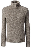 Classic Men's Wool Blend Cozy Marl Turtleneck-Golden Yellow Heather