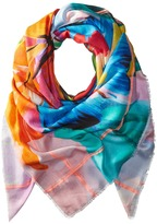 Echo Cuba Blooms Square Pareo Scarf Scarves