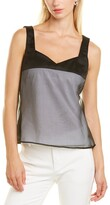 Thumbnail for your product : Piazza Sempione Silk-Front Top
