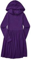 Ralph Lauren Waffle-Knit Hooded Dress