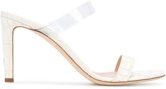 Giuseppe Zanotti Avorio croc effect sandals