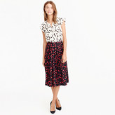 J.Crew Tall pleated midi skirt in cherry print