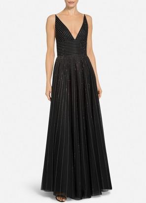 St. John English Tulle V-Neck Gown