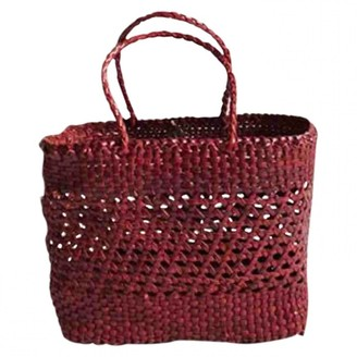DRAGON DIFFUSION Burgundy Wicker Handbags