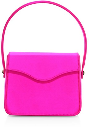 Edie Parker Hot Box Satin Shoulder Bag