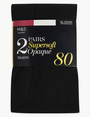 Marks and Spencer 2 Pack 80 Denier Supersoft Tights
