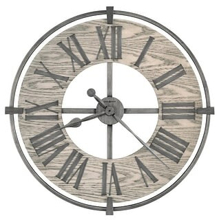 Howard Miller Eli Wrought Iron and Glass Oversized Wall Clock