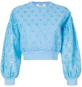 MSGM broderie anglaise detail sweatshirt