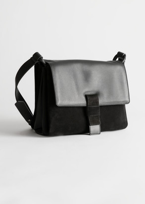And other stories Suede Leather Crossbody Bag