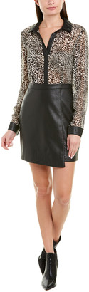 BCBGMAXAZRIA High-Neck Mini Dress