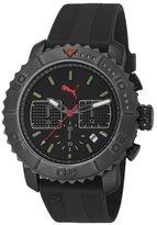Puma Gallant Unisex Quartz Watch with Black Dial Chronograph Display and Black PU Strap PU103561004