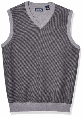 Chaps Men's Cotton V-Neck Sweater Vest