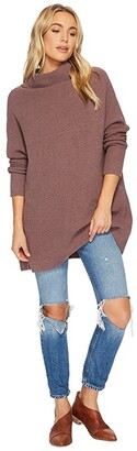 Free People Ottoman Slouchy Tunic (Taupe) Women's Blouse