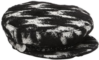 Eugenia Kim MARINA HOUNDSTOOTH CAPTAIN'S HAT