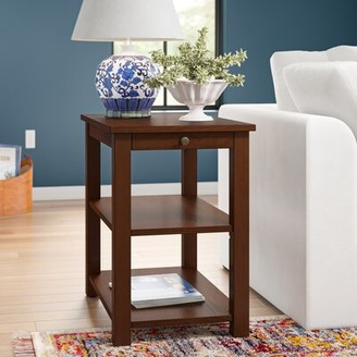 Three Posts Morristown End Table with Storage