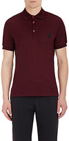 Alexander McQueen Men's Cotton Polo Shirt-BURGUNDY