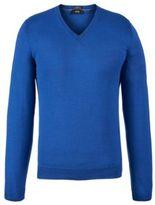 Hugo Boss Melba-F Wool V-Neck Sweater L Blue