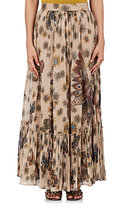 Valentino Women's Floral- & Butterfly-Print Cotton Maxi Skirt