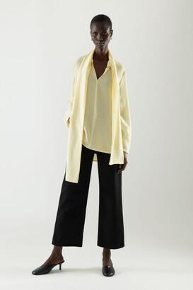 Cos Scarf Detail Silk Blouse