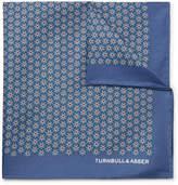 Turnbull & Asser Floral-Print Silk-Twill Pocket Square