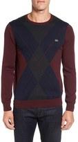 Lacoste Argyle Front Crewneck Sweater