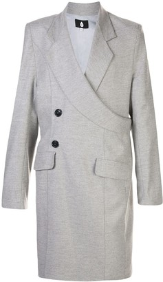 Duoltd Asymmetric Wrap-Style Coat