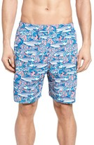 Vineyard Vines Men's Bonefish In Coral Print Swim Trunks