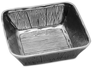 Wilton Armetale Wild Wood Small Square Bowl