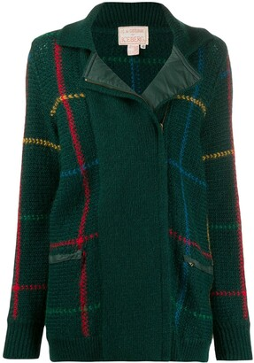 Jc De Castelbajac Pre Owned 1970s Knitted Check Jacket