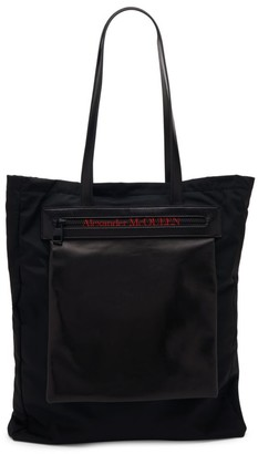 Alexander McQueen Leather Trim Tote