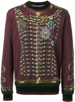 Dolce & Gabbana regimental military print sweatshirt