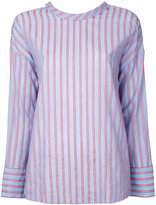 CITYSHOP tie back stripe shirt - women - Cotton - One Size