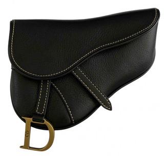 Christian Dior Saddle Black Leather Clutch bags