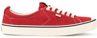 Cariuma OCA Low Stripe Samba Red Suede Contrast Thread Sneaker