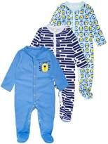 Mothercare BOYS NOVELTY TIGER SLEEPSUIT BABY 3 PACK Pyjama set blue