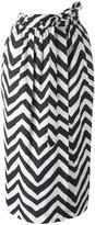 Diesel zig zag pattern skirt - women - Polyester - XS