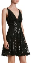 Dress the Population 'Morgan' Sequin Lace Fit & Flare Dress